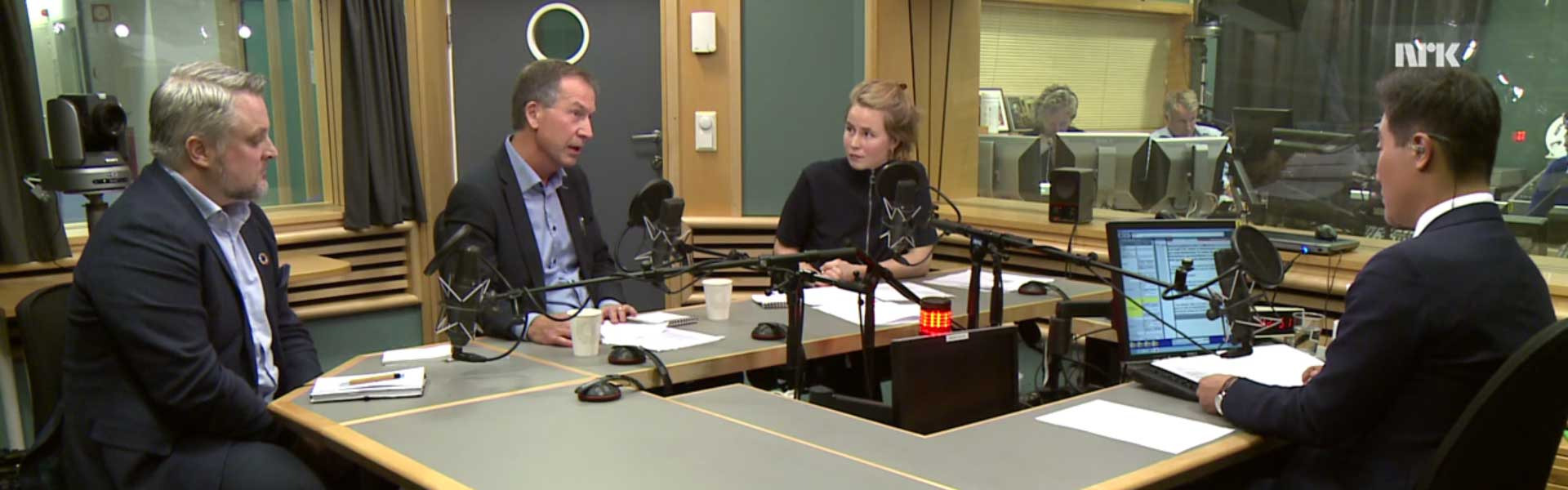 Director of the Norwegian Nobel Institute, Olav Njølstad in a radio debate 26. October 2017 with Anja Bakken Riise, head of Future of our hands.